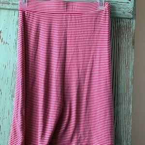 Pink stripe tommy Bahama knit skirt size xs